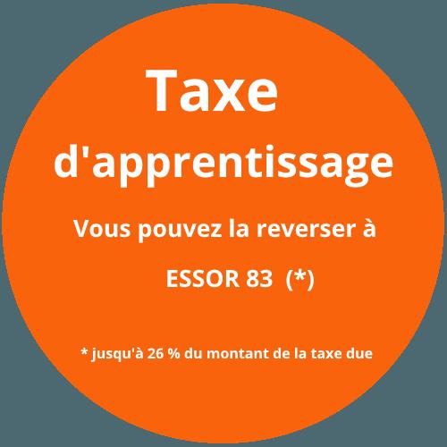 taxes apprentissage reversée à l'ESSOR83 Cuers